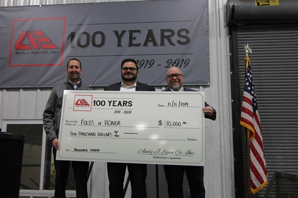 Folds Grand Rapids Receives Final Donation in Egan $100k Community Giveaway during Veterans Day Presentation